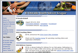El Dorado Youth Soccer League - www.eldoradoysl.com
