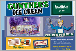 Gunther's Ice Cream Shop - www.gunthersicecream.com
